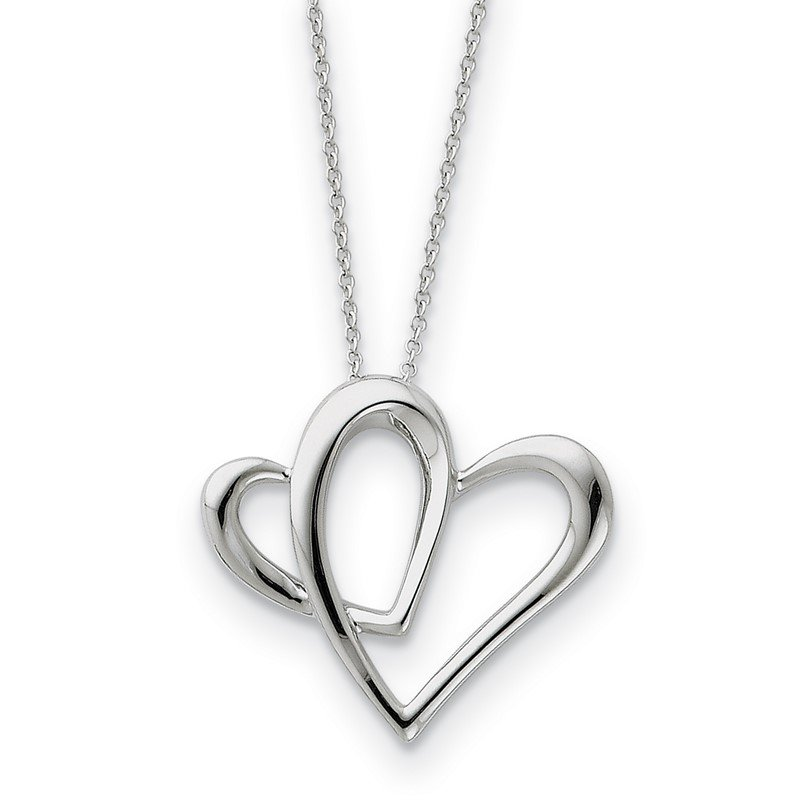 Quality Gold Sterling Silver Daughter A Part of My Heart 18in Necklace