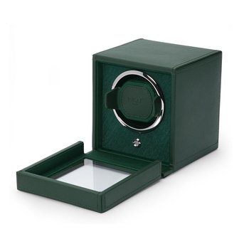 Cub Winder with Cover, green leather