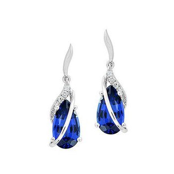 Blue Sapphire Earrings-CE4203WBS