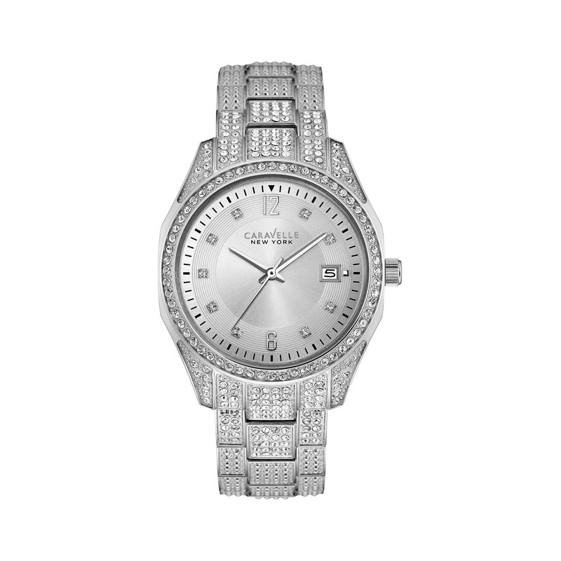 Caravelle New York Crystal Boyfriend Ladies' Watch