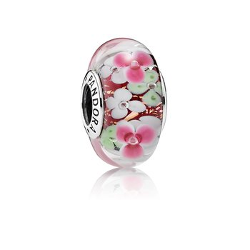 Flower Garden Charm, Murano Glass