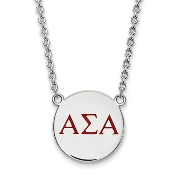 Sterling Silver Alpha Sigma Alpha Greek Life Necklace