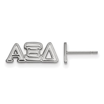 Sterling Silver Alpha Xi Delta Greek Life Earrings