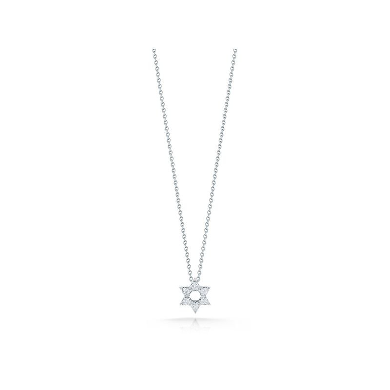 Roberto Coin 18Kt Gold Star Of David Pendant With Diamonds