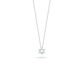 18Kt Gold Star Of David Pendant With Diamonds