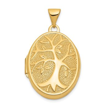 14ky 21x16mm Oval Tree Locket