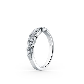 Leaf Floral Diamond Wedding Band