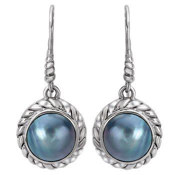 Ladies Mabe Pearl Earrings