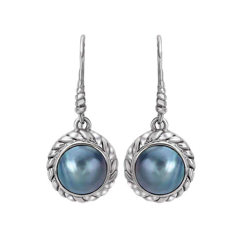Eleganza Ladies Mabe Pearl Earrings