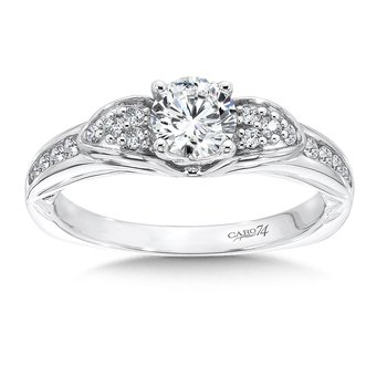 Engagement Ring With Side Stones in 14K White Gold (5/8ct. tw.)