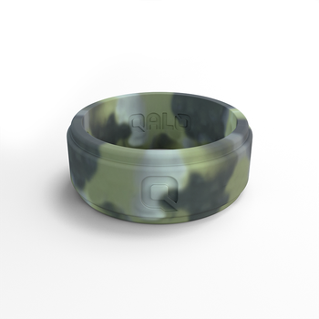 Men's Step Edge Camo Silicone Ring