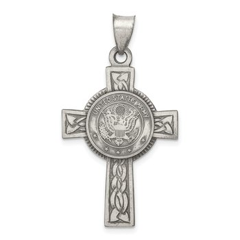 Sterling Silver US Army Cross Pendant