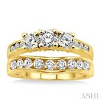 ASHI past present & future diamond wedding set