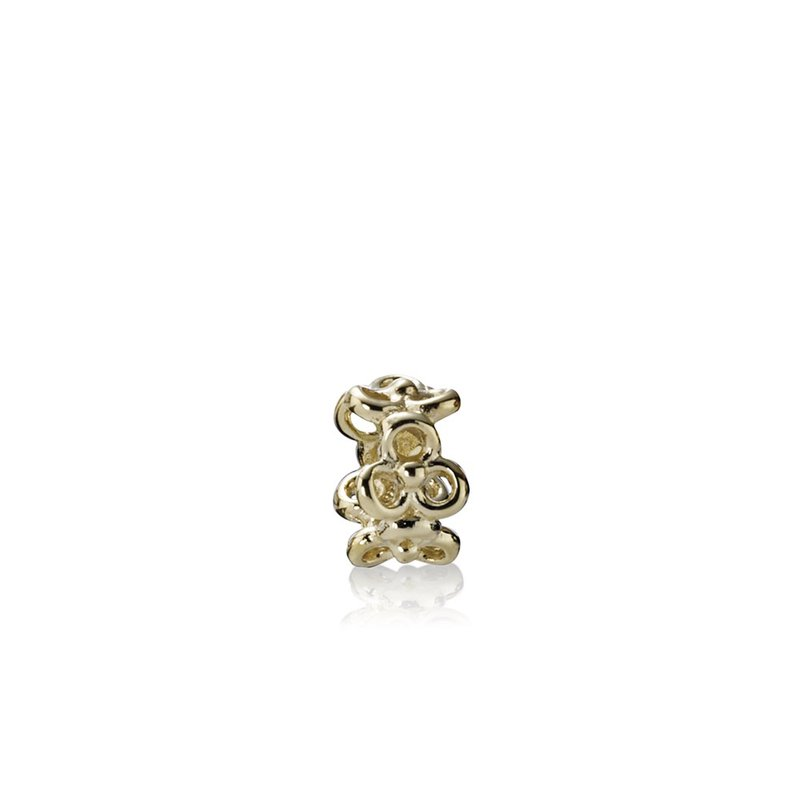 PANDORA Trinity Flowers Spacer, 14K Gold