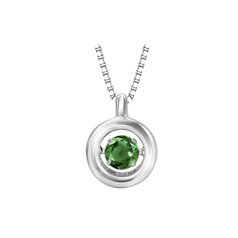 Rhythm of Love Silver Emerald Rhythm Of Love Pendant