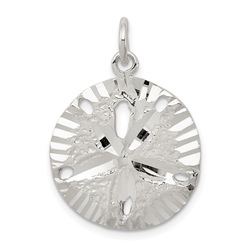 Quality Gold Sterling Silver Sand Dollar Charm