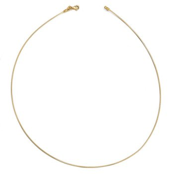 Leslie's 14K 1MM Round Detachable clasp Omega Necklace