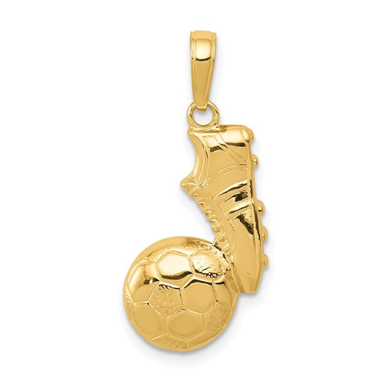 Quality Gold 14k Soccer Ball and Shoe Pendant