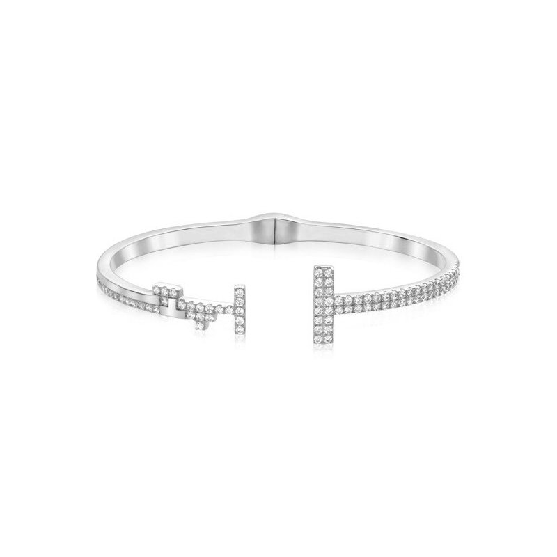 LARUS Jewelry Two Bar Open Bangle