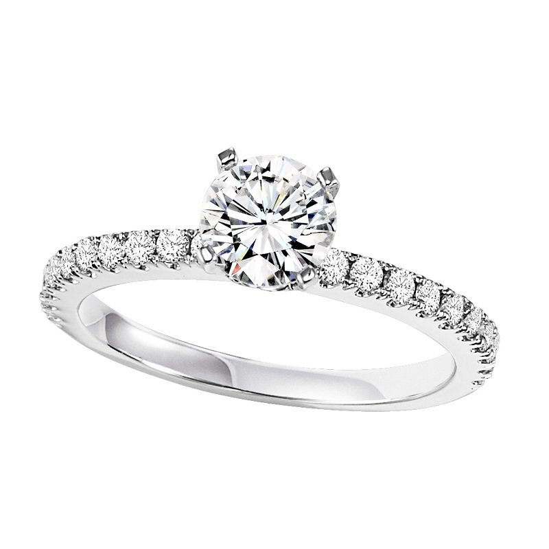 Bridal Bells 14K Diamond Engagement Ring 1/3 ctw with 3/4 ct Center