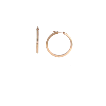 18Kt Gold Oro Classic Round Hoop Earrings