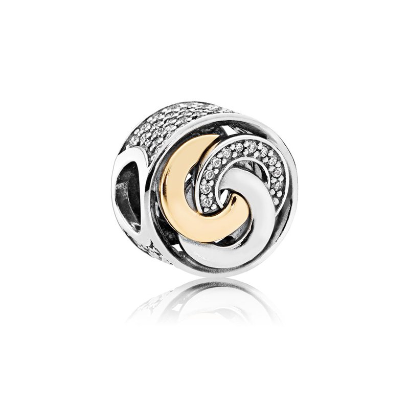 PANDORA Interlinked Circles Charm, Clear Cz