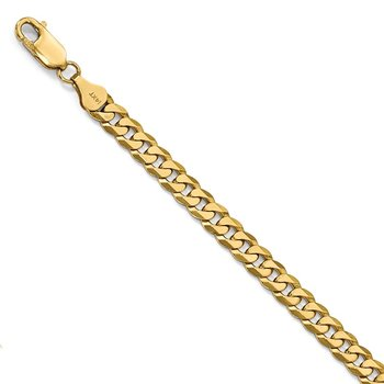 Leslie's 14k 6.1mm Flat Beveled Curb Chain