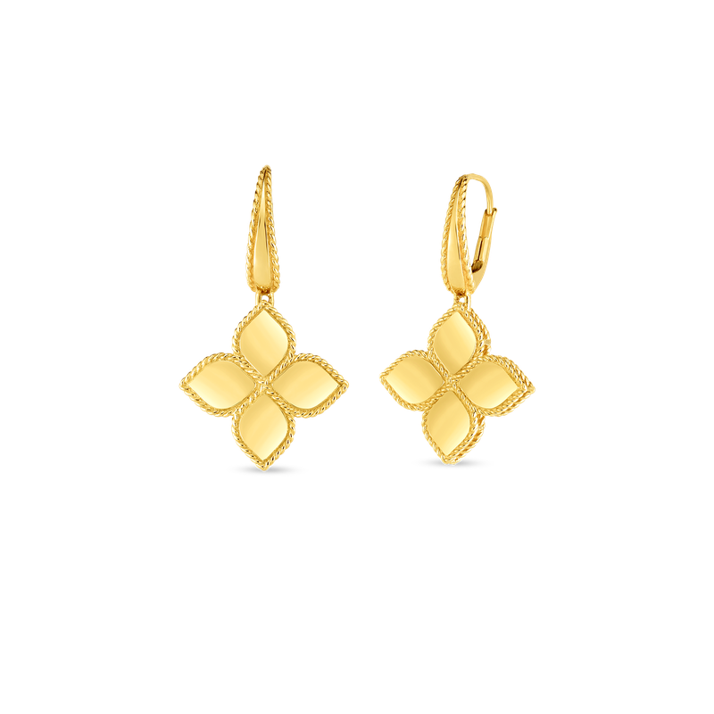Roberto Coin 18K Gold Large Flower Drop Earring