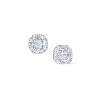14K Mosaic Diamond Studs