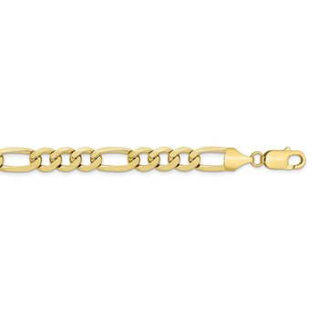 10k 10mm Light Concave Figaro Chain