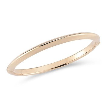 18KT GOLD KNIFED EDGE BANGLE