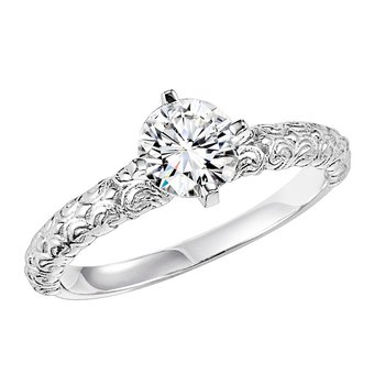 14K Gold Engagement Ring with 3/4 ct Center