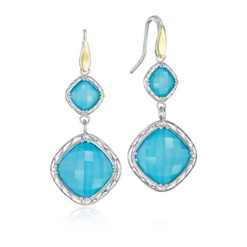Flourishing Gem Drop Earrings featuring Neo-Turquoise