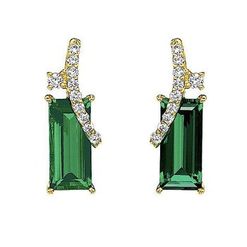 Emerald Earrings-CE2283YEM