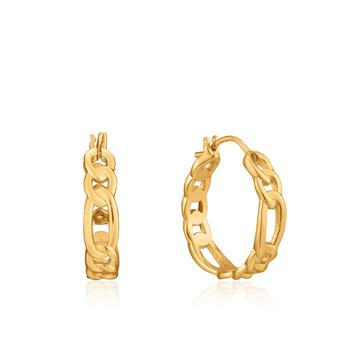 Figaro Chain Hoop Earrings