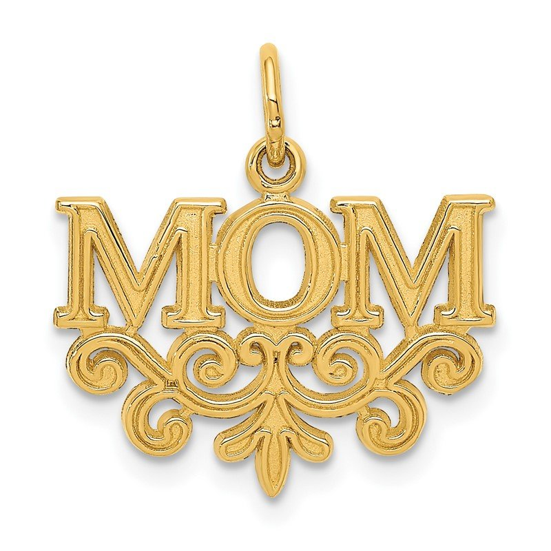 Quality Gold 14k MOM Charm