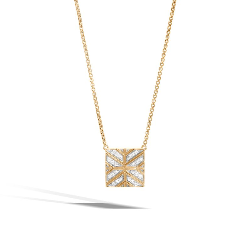 JOHN HARDY Modern Chain Pendant Necklace in 18K Gold with Diamonds