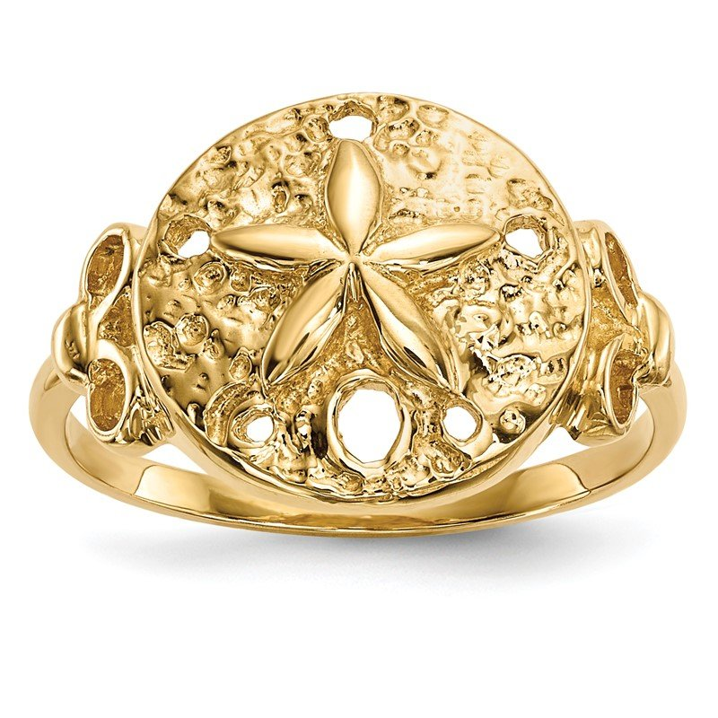 Quality Gold 14K Polished Sand Dollar Ring