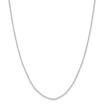 Sterling Silver 1.65mm Diamond-cut Long Link Cable Chain