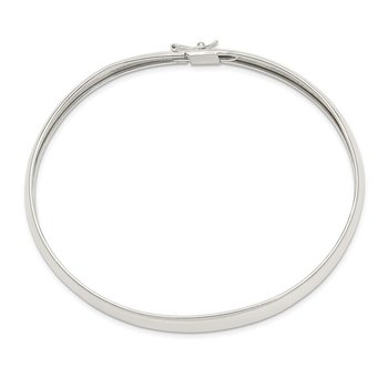 Sterling Silver 8mm Polished Flexible Bangle