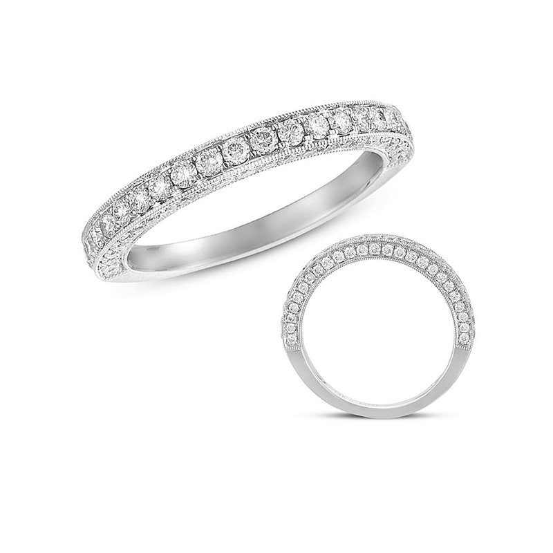 S. Kashi  & Sons Matching Diamond Band