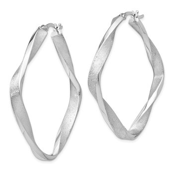 Leslie's Sterling Silver Radiant Essence Twisted Hoop Earrings