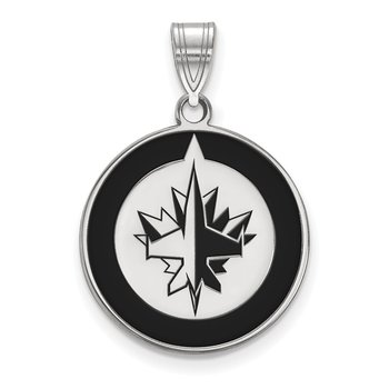 Sterling Silver Winnipeg Jets NHL Pendant