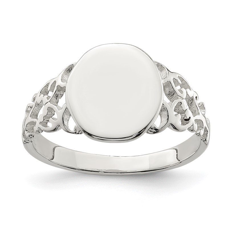 Fine Jewelry by JBD Sterling Silver Signet Ring