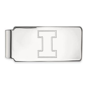 Sterling Silver University of Illinois NCAA Money Clip