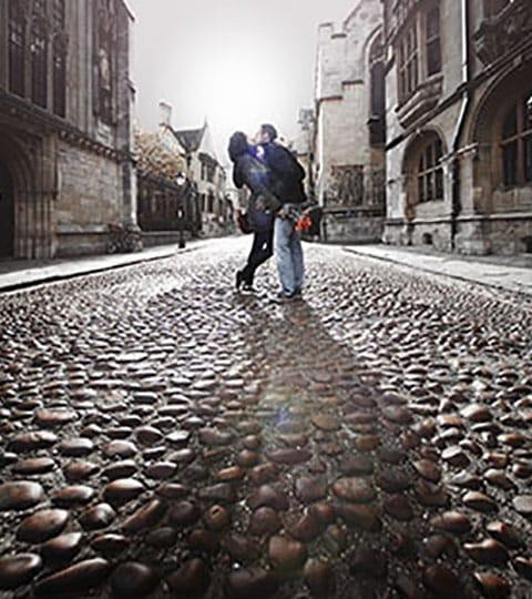 couple on cobbles