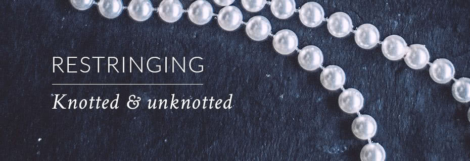 Pearl and bead restringing